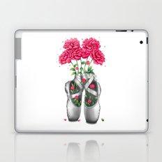 Pointe with pink peonies Laptop & iPad Skin