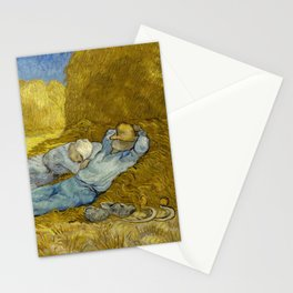 Vincent Van Gogh - Noon, Rest from work / Siesta Stationery Cards
