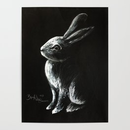 Bunny Painting Poster