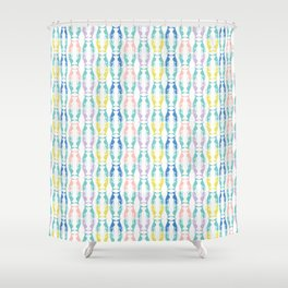 Pastel Greyhounds Shower Curtain