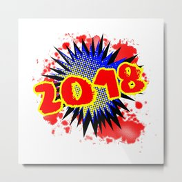 2018 Comic Exclamation Metal Print