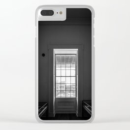 The window in a narrow room. Clear iPhone Case