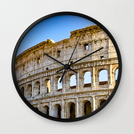 Vita Bellissima (Beautiful Life): Colosseum in Rome, Italy Wall Clock