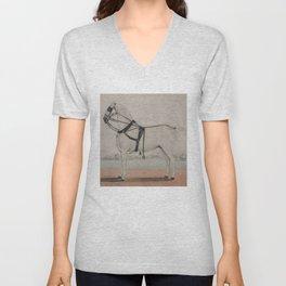 Vintage Carriage Horse Painting (1845) Unisex V-Neck