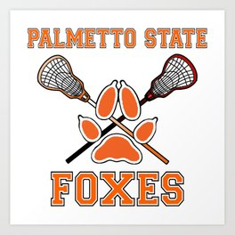Palmetto State Foxes Exy Crest Art Print