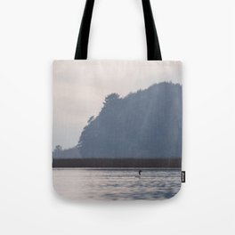Lonely black-necked swan Tote Bag