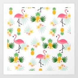 Flamingo Festival Art Print