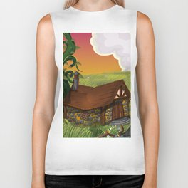 Jack and the Beanstalk Cottage in the evening Biker Tank