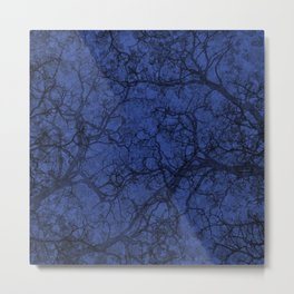 Blue Hunting Camo Pattern Metal Print