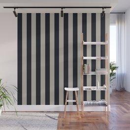 Vertical Stripes Black & Warm Gray Wall Mural