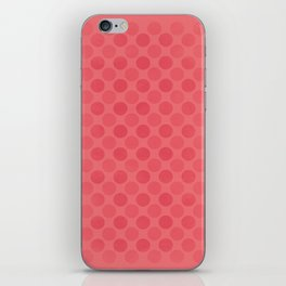 Faded red circles pattern iPhone Skin