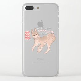 Gender Neutral Shibe Clear iPhone Case