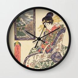 Geisha women Wall Clock