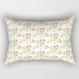 Diamonds - Gold Rectangular Pillow