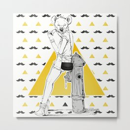 Fashion Girl Metal Print