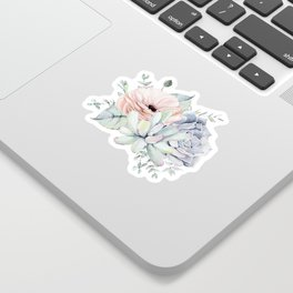 Pretty Succulents by Nature Magick Sticker