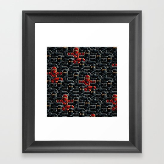 Ninja Attack Framed Art Print