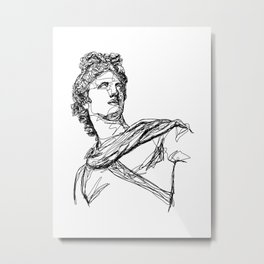 Apollo Greek God Metal Print