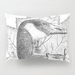 Canada Goose on Maple Leaf Pillow Sham