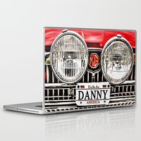 danny haas Laptop & iPad Skins featuring MG Danny by Catherine Doolan