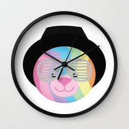 Royal Hippie Rainbow Bondage Bear Wall Clock