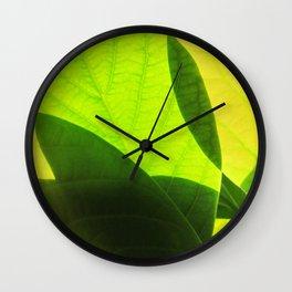 Avocado Leaves Wall Clock