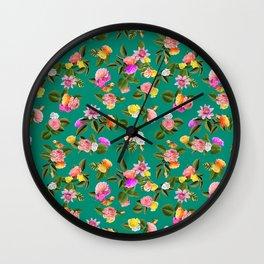 Frida Floral Wall Clock