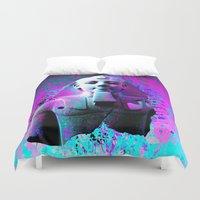 egyptian Duvet Covers featuring digital Egyptian  by seb mcnulty