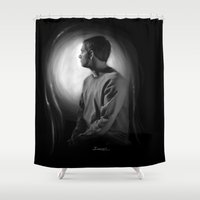 john Shower Curtains featuring John by aizercul