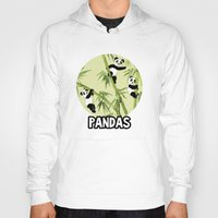 pandas Hoodies featuring Pandas by Volha