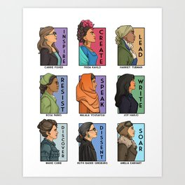 She Series Collage - Real Women Version 1 Art Print