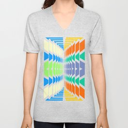 INDIAN ABSTRACT Unisex V-Neck