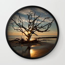 Tree and Driftwood Wall Clock