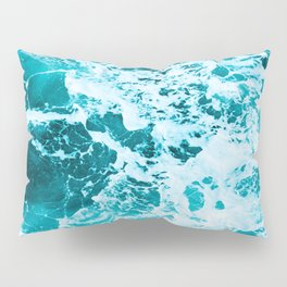 Deep Turquoise Sea - Nature Photography Pillow Sham