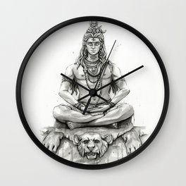 Lord Shiva Painting, Shiva Art, Meditation Shiva Portrait Wall Clock