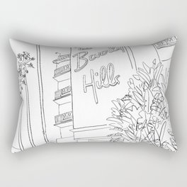 The Beverly Hills Hotel Rectangular Pillow