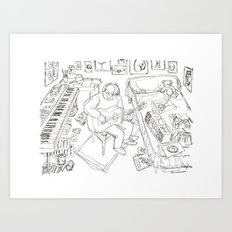 Daniel Johnston Art Print