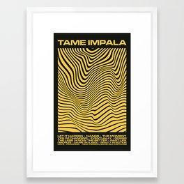 Tame Impala Currents Design Framed Art Print