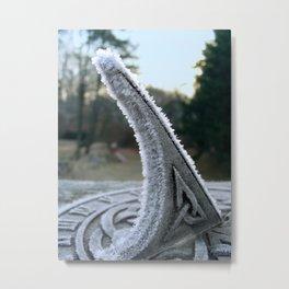 Sundial Frost Metal Print