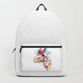 Giraffe Watercolor Portrait Backpack