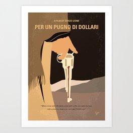 No721 My A Fistful of Dollars minimal movie poster Art Print