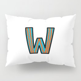 Uppercase Letter W Pillow Sham