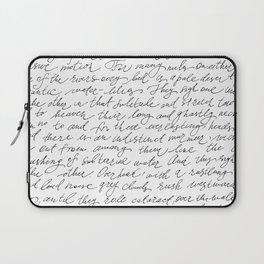 Script Text Book Page Letter Laptop Sleeve
