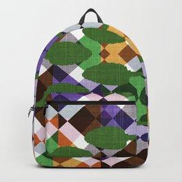 Retro Leaf Box Backpack