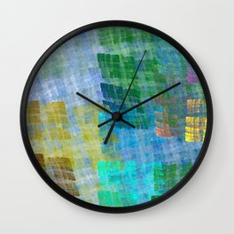 Abstract Fabric Designs 4 Duvet Covers & Pillows Wall Clock