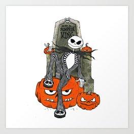 All Hail the Pumpkin King Art Print