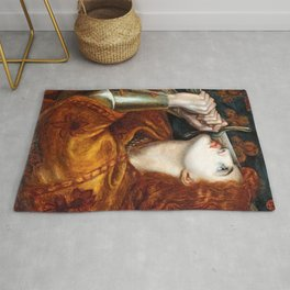 Dante Gabriel Rossetti Joan of Arc Rug