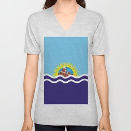 Flag of Santa Cruz Unisex V-Neck