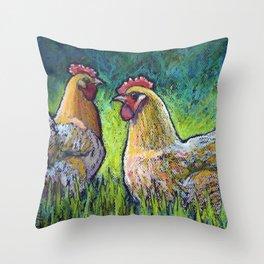 Buff Orpington Morning Throw Pillow