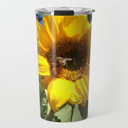 Bee on sunflower Travel Mug